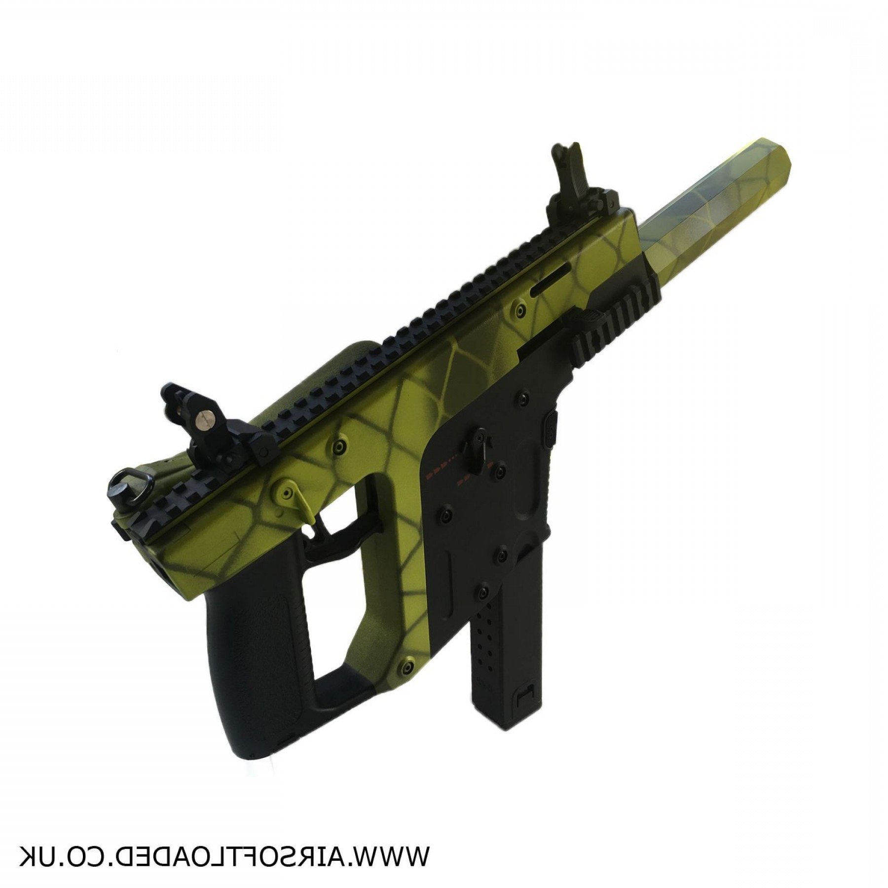 Kriss Vector Pistol Genii: Ak Mod K Airsoft Aeg Two Tone Green P