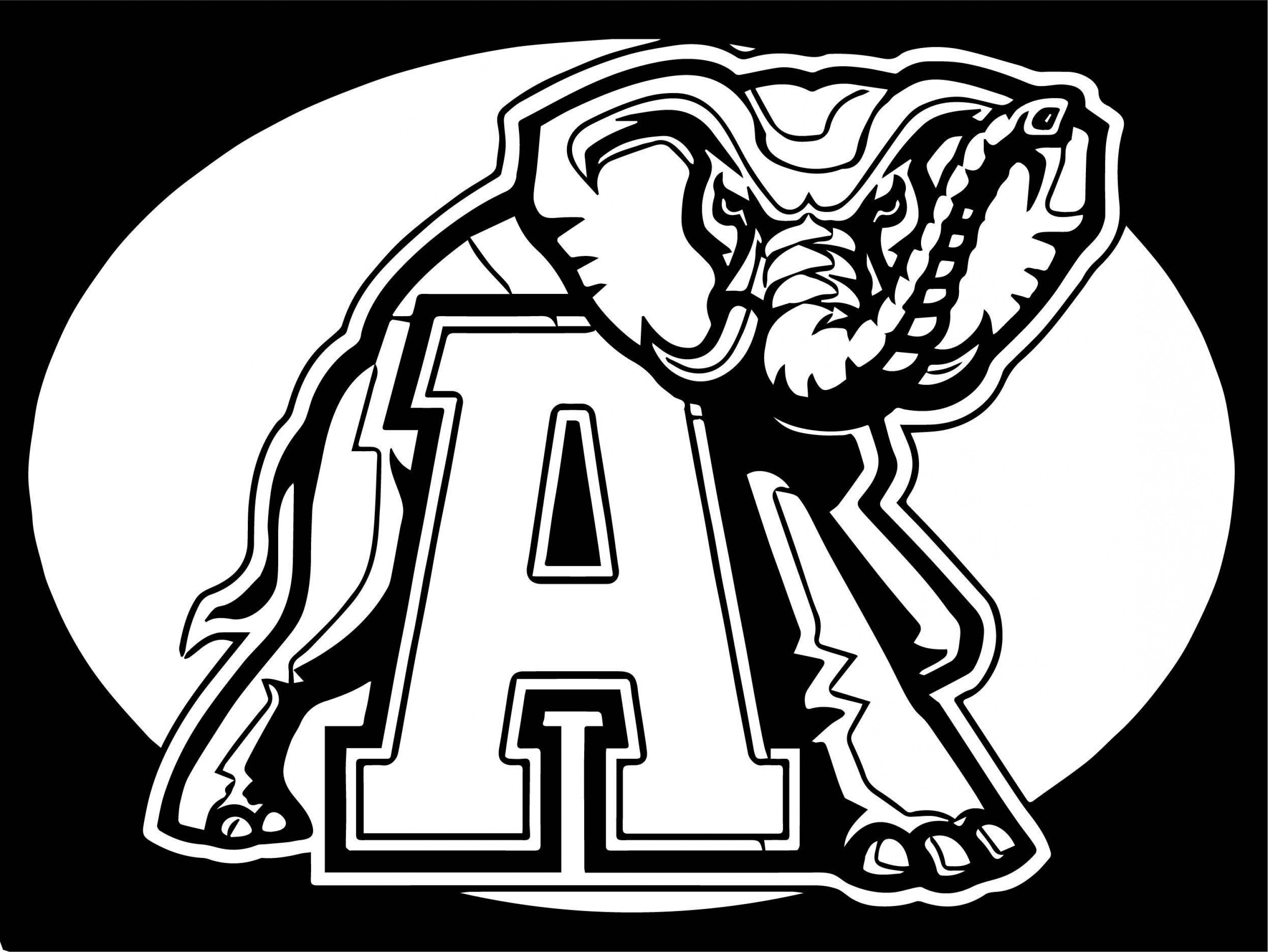 Crimson Tide Vector Art: Alabama Crimson Tide Coloring Pages Football Inspirationa Astonishing Logo Page C