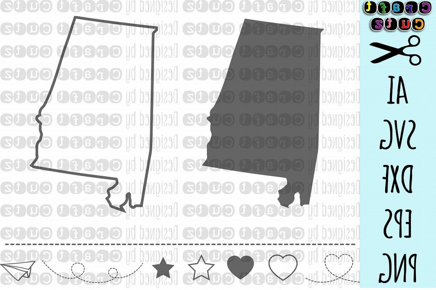 Alabama Outline Vector: Alabama Svg State Svg Files Alabama Vector United States Svg State Clip Art Alabama Cut File Alabama State File State Outline