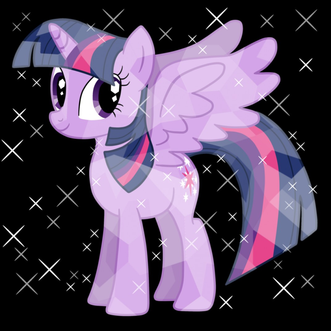Alicorn Twilight Flying Vector: Alicorn Princess Twilight As Crystal Pony Vector