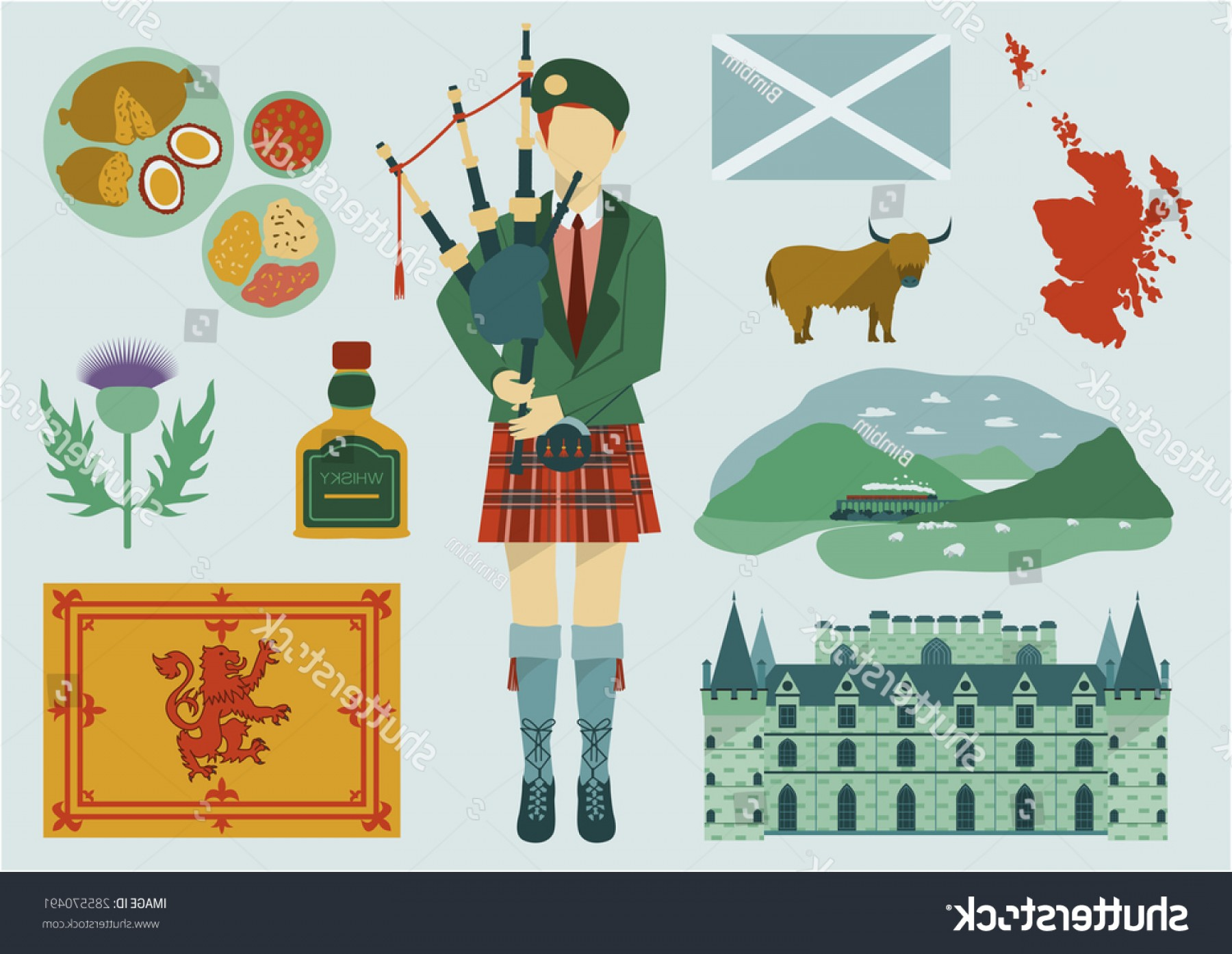 Scotland Heraldic Vector Graphic: All About Scotland Elements National Mapfoodtourist