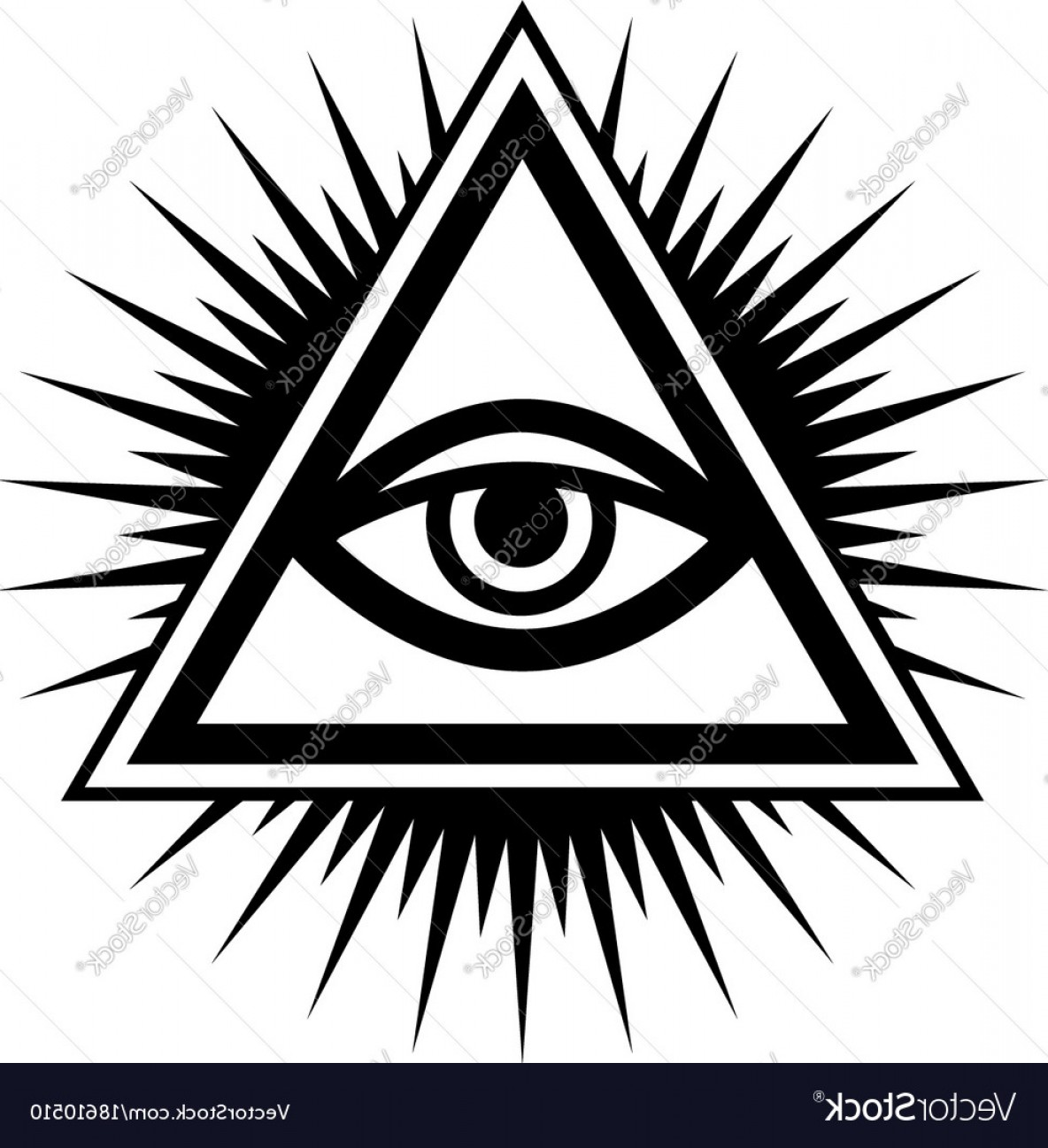 Pyramid With Eye Of Providence Vector: All Seeing Eye The Eye Of Providence Vector