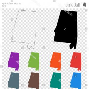 Alabama Outline Vector: Stock Illustration Alabama Outline Map Set State Blank Vector Image