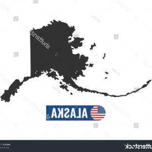Alaska State White Background Vectors: Vector Set Alaska State Flag Icons