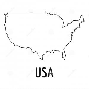 USA Map Vector Black: Alaska State Of Usa Solid Black Silhouette Map Vector
