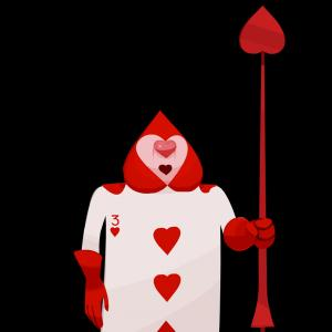 Alice Queen Of Hearts Vector: Angry Queen On Throne Vector