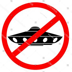 Not Allowed Vector: Alien Ships Not Allowed Vector Sign