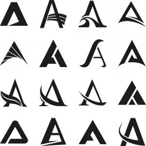 Letters Symbols Vector Art: Alphabet Symbols And Elements Of A Letter Vector