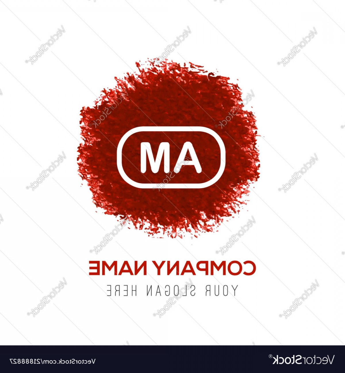 Radio Frequency Vector: Am Radio Frequency Icon Red Watercolor Circle Vector