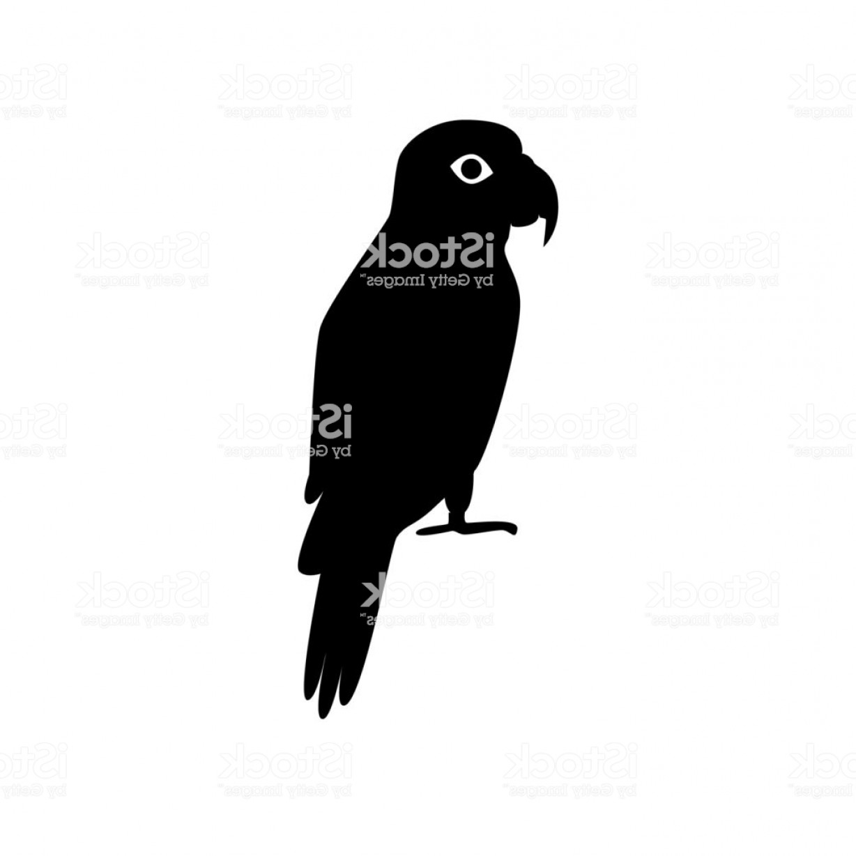 Amazon Icon Vector: Amazon Parrot Silhouette Icon In Flat Style Gm