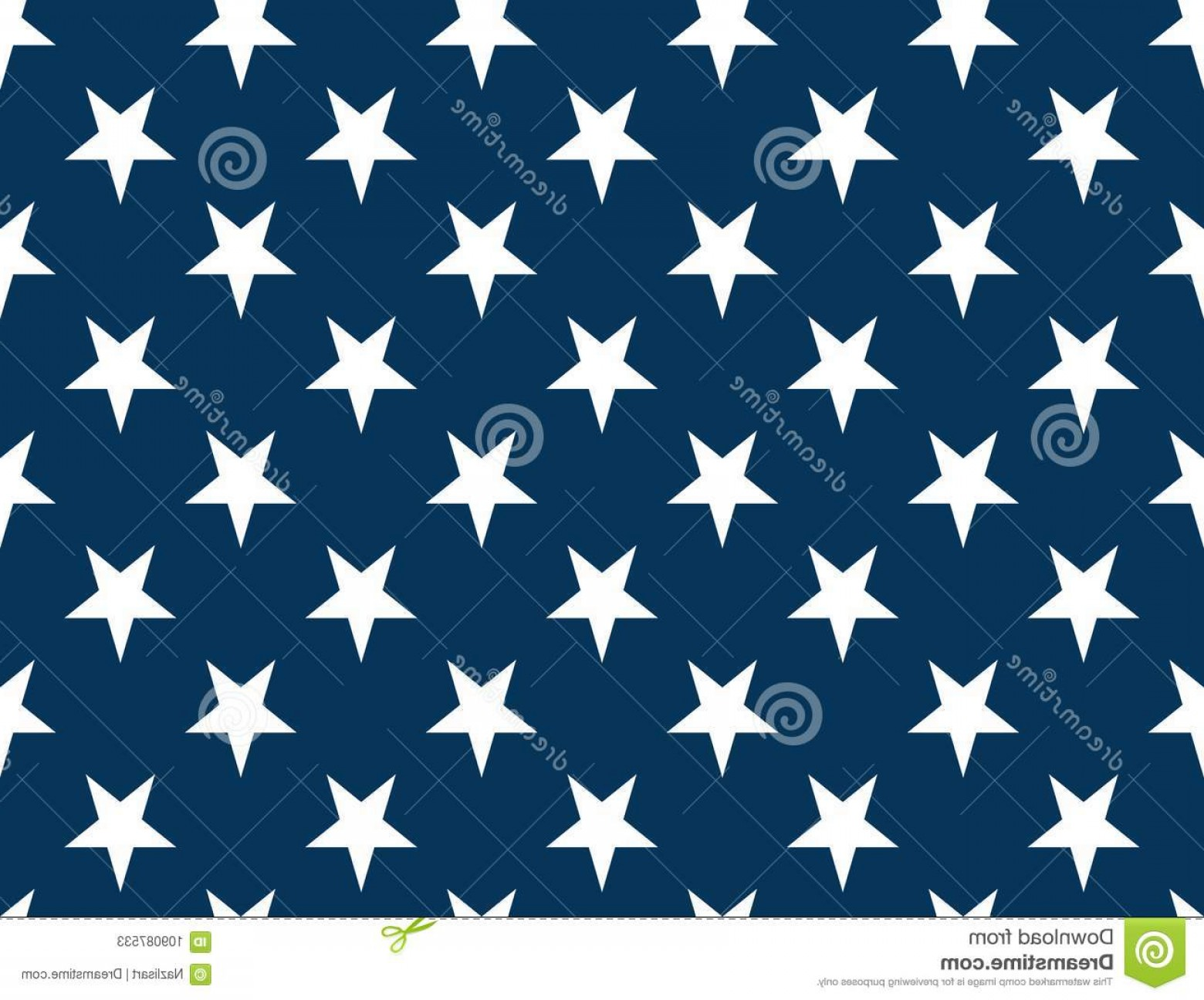American Flag Stars Only Vector: American Flag Stars Seamless Pattern Non Textured Vector Image