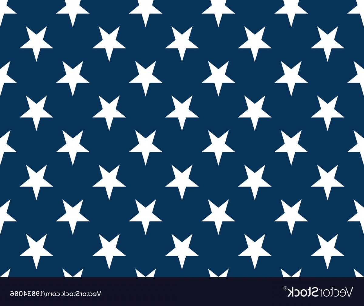 American Flag Stars Only Vector: American Flag Stars Seamless Pattern Non Vector