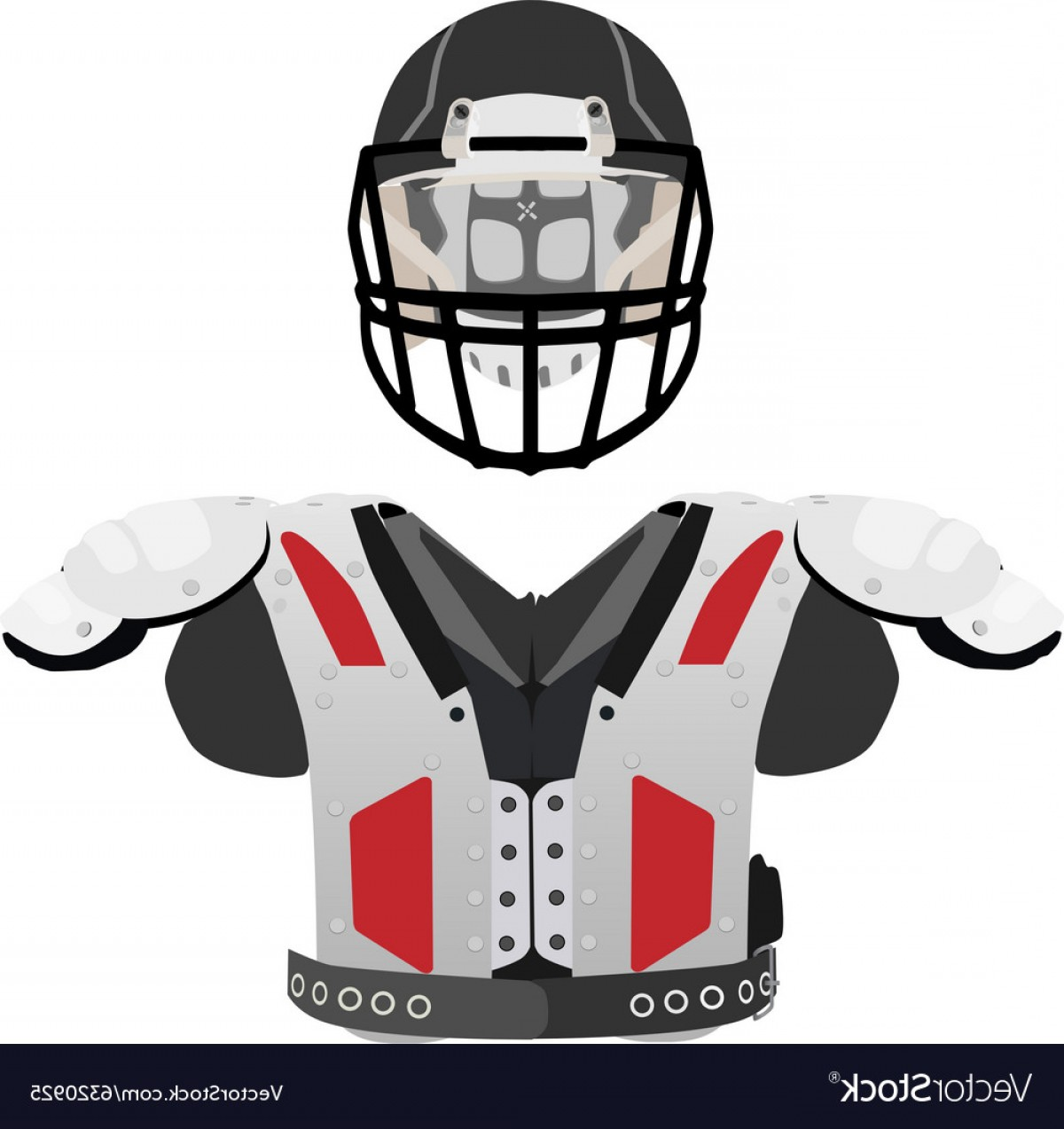 High Res Vector American Football: American Football Helmet And Armour Vector
