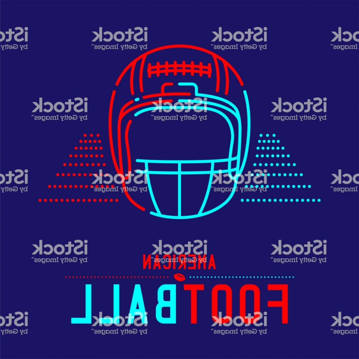 Abstract Football Vector Outline: American Football Helmet With Ball And Court Icon Outline Stroke Set Dash Line Gm