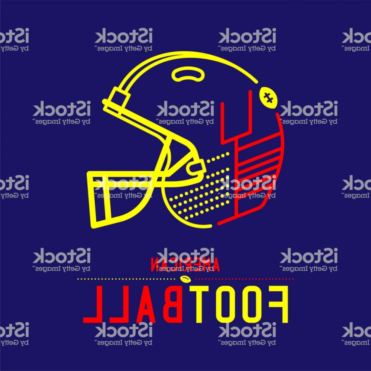 Abstract Football Vector Outline: American Football Helmet With Goal Post Icon Outline Stroke Set Dash Line Design Gm
