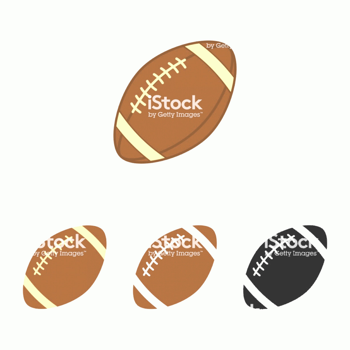 Football Laces Vector Silhouette: American Football Set Sport Ball For American Football Vector Silhouettes Of A Rugby Gm