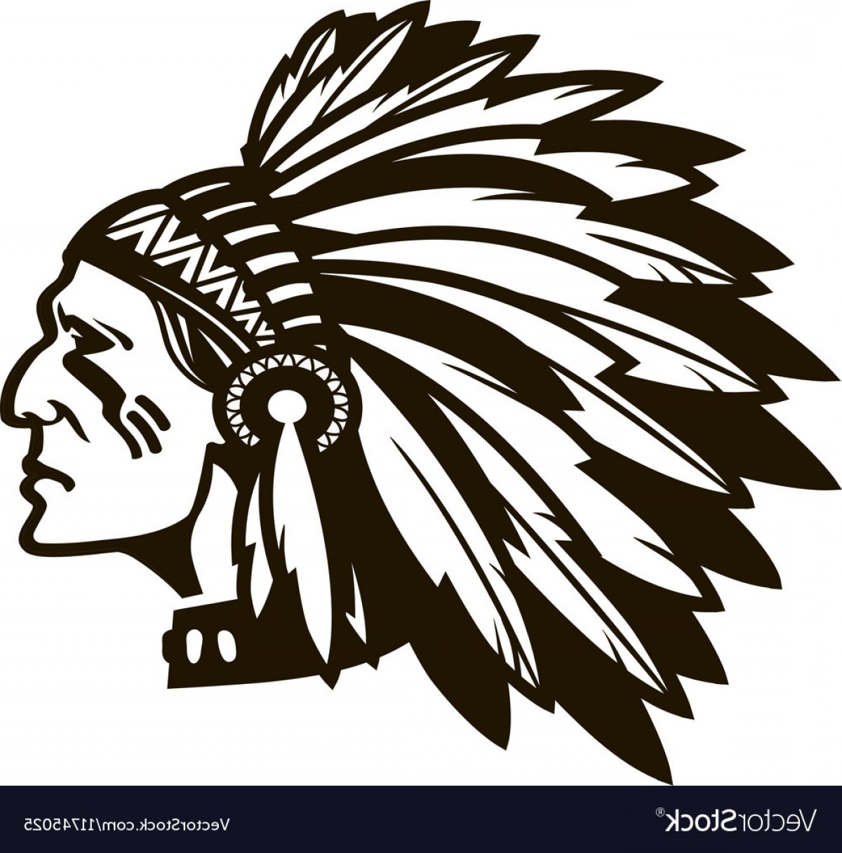 American Indian Chief Vector: American Indian Chief Logo Or Icon Vector
