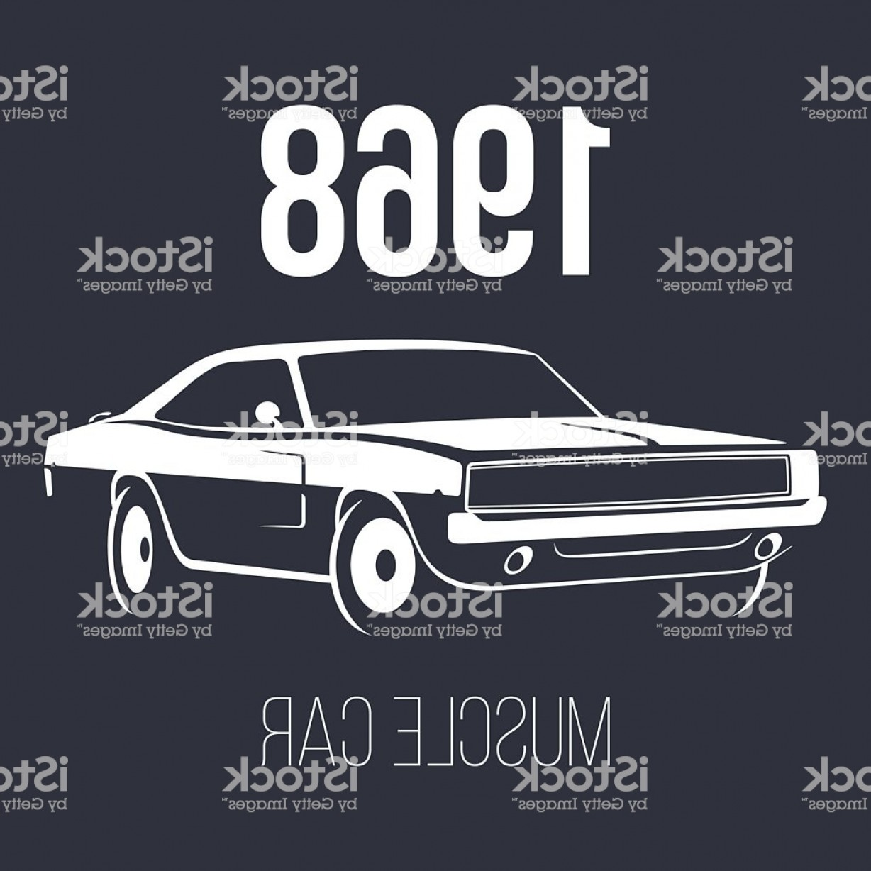 Muscle Car Silhouette Vector High Res: American Muscle Car Gm