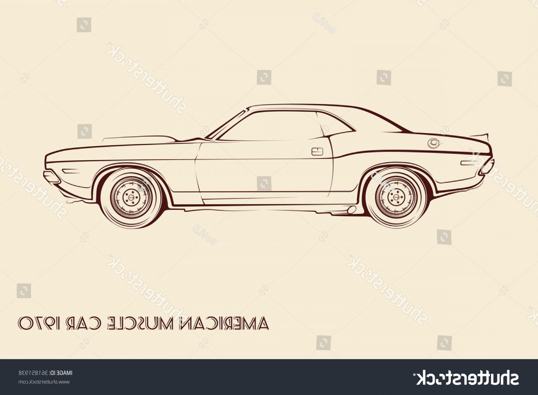Muscle Car Silhouette Vector High Res: American Muscle Car Silhouette S Vintage