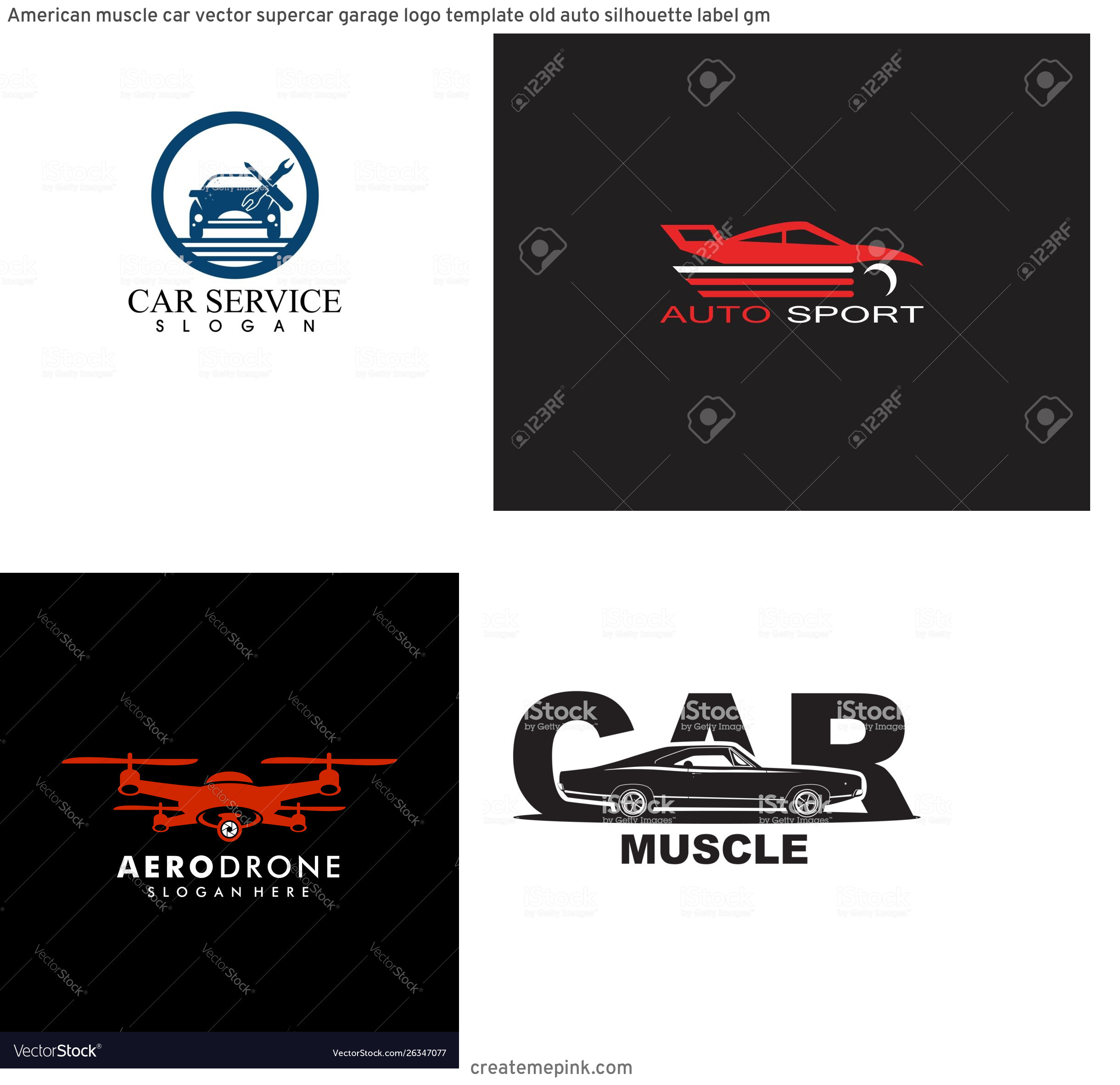 Dodge Charger Logo Vector: American Muscle Car Vector Supercar Garage Logo Template Old Auto Silhouette Label Gm