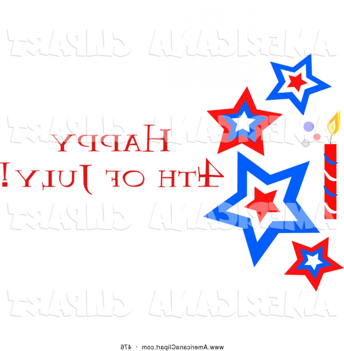 Americana Vector Art: Americana Vector Clip Art Of A Patriotic Happy Fourth July Star And Firework Greeting By Bpearth Bed Clipart Th