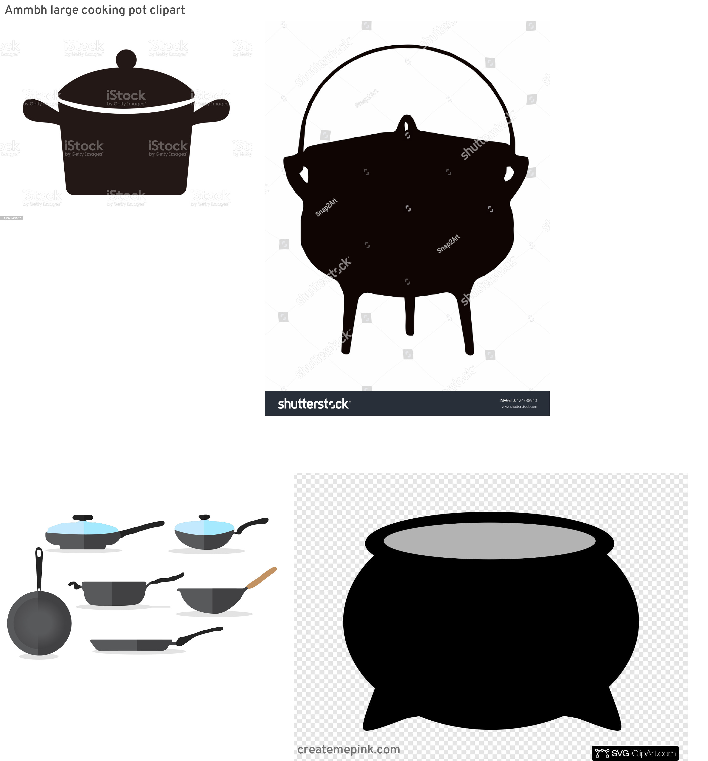 Cook Pot Vector: Ammbh Large Cooking Pot Clipart