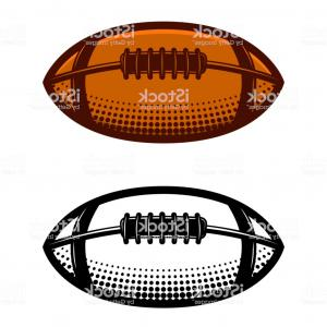 Football Laces Vector Design: American Football Ball Illustration Isolated On White Background Design Element For Gm