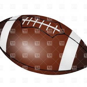 Vector Football Laces Clip Art: American Football Ball Isolated On A White Background Vector Clipart