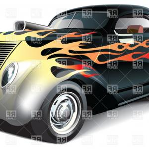 Car Flame Vectors EPS: Automotive Speed Car With Flame Logo Gm