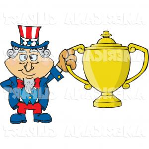 Americana Vector Art: Americana Vector Cartoon Clip Art Of A Smiling Uncle Sam Character Clipart