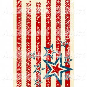 Americana Vector Art: American Flag Black And White Vector Clipart