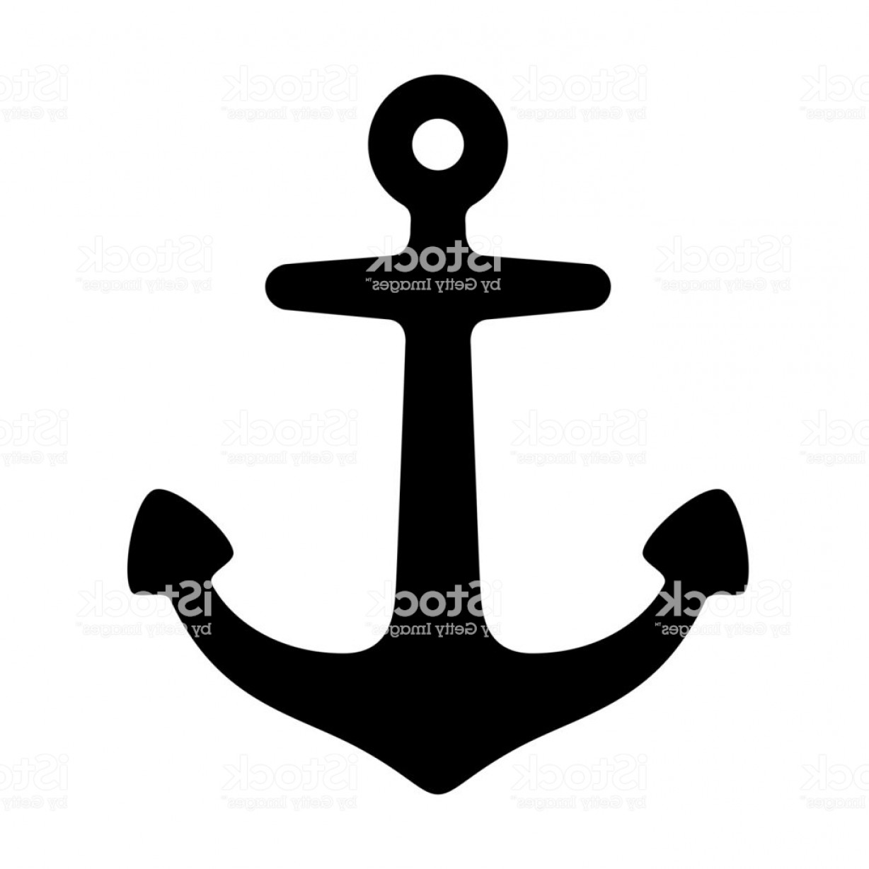 Boat Vector Art Graphics: Anchor Vector Icon Logo Boat Pirate Maritime Nautical Illustration Symbol Clip Art Gm