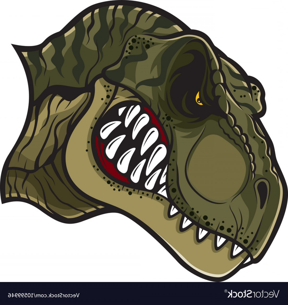 T-Rex Vector: Angry T Rex Head Vector