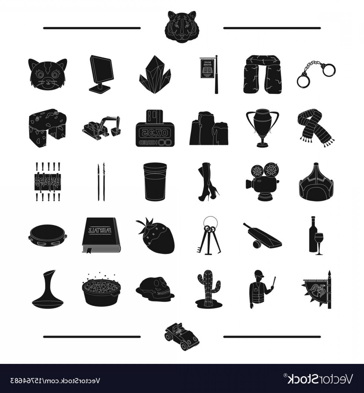 Hires Camera Lens Vector: Animal Desert Service And Other Web Icon In Vector