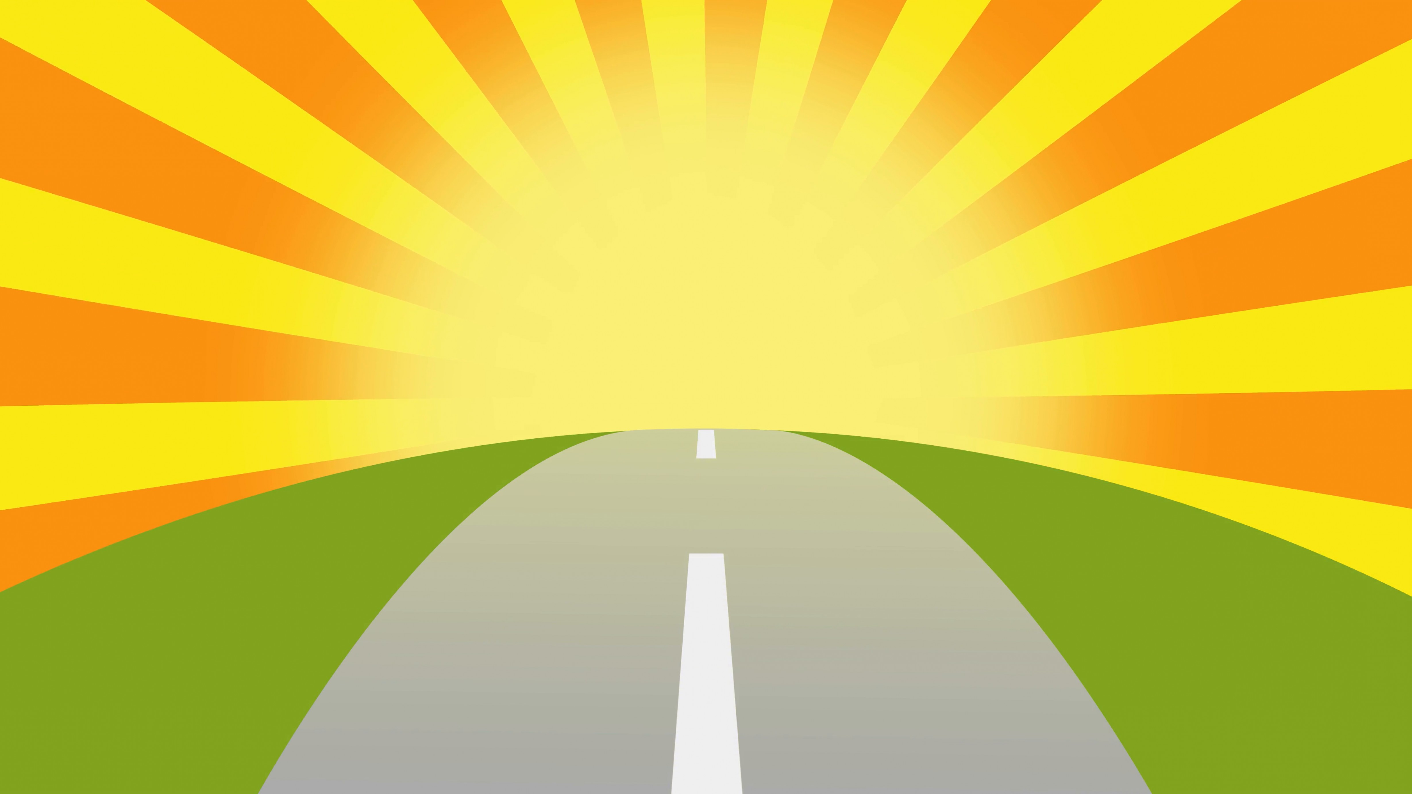 Sunset Road Background Vector: Animated Road On A Sunset With Space For Your Object Text Or Logo Seamlessly Loop Colorful Cartoon Nature Background Rbvjardiqlikev
