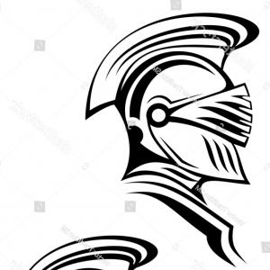 Warrior Thin Blue Line Vector: Native American Indian Warrior Side Retro Vector