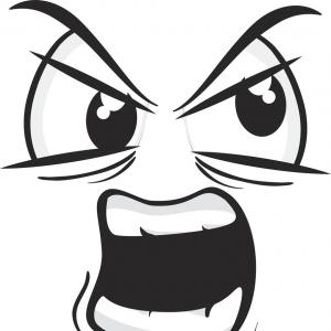Angry Eyebrow Vector: Angry Face Cartoon Expression Vector
