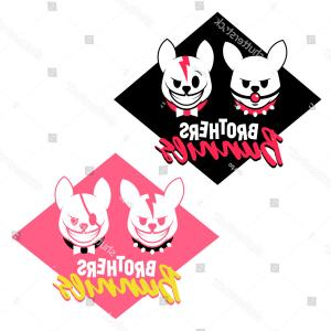 Mad Vector: Angry Mad Bunnies Logo Vector Illustration