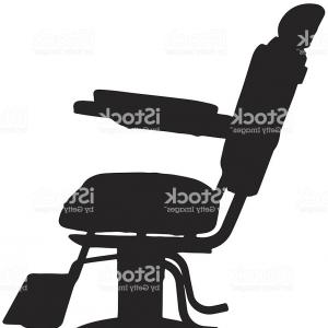 Chair Silhouette Vector: Antique Barber Chair Silhouette Gm