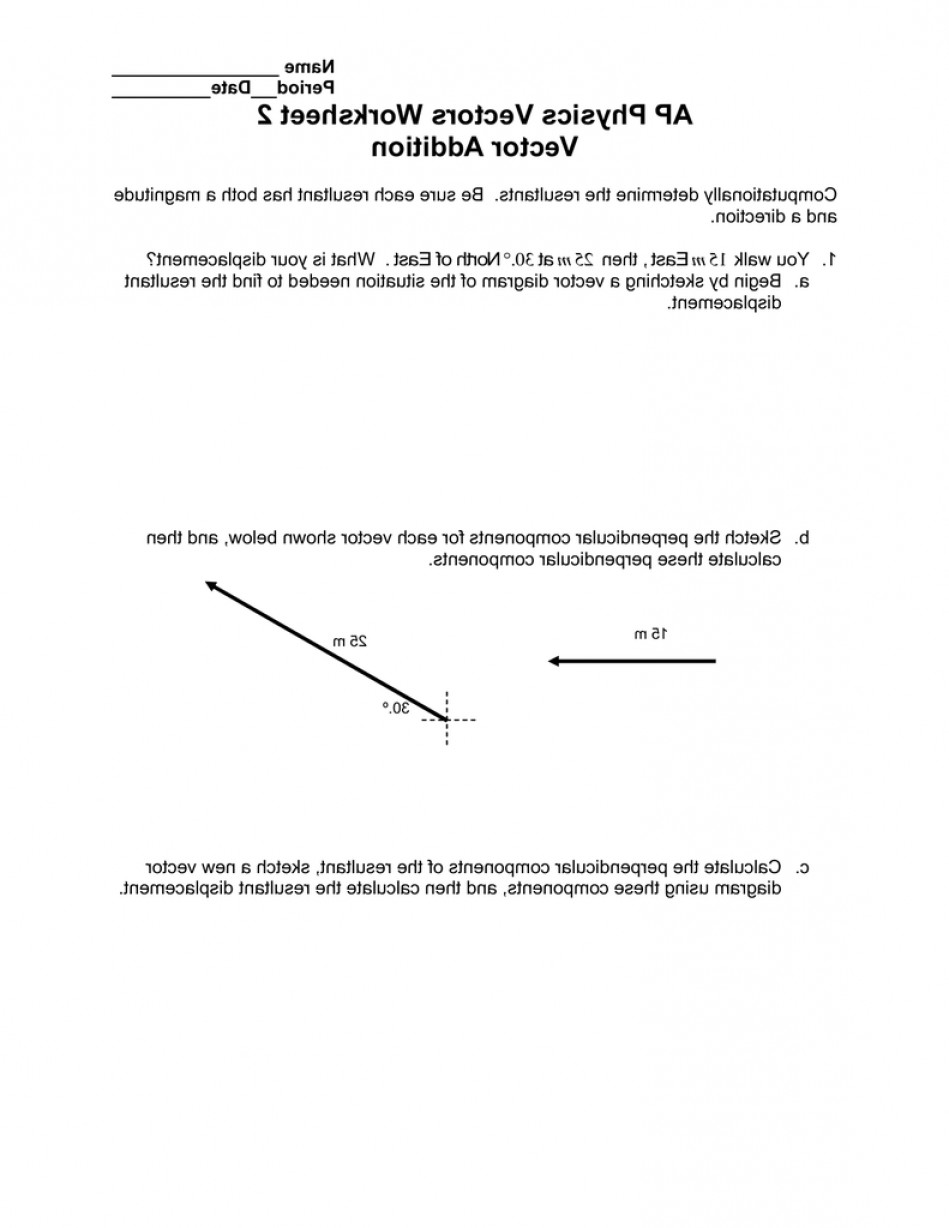 Vector Displacement Physics: Ap Physics Vectors Worksheet Vector Addition