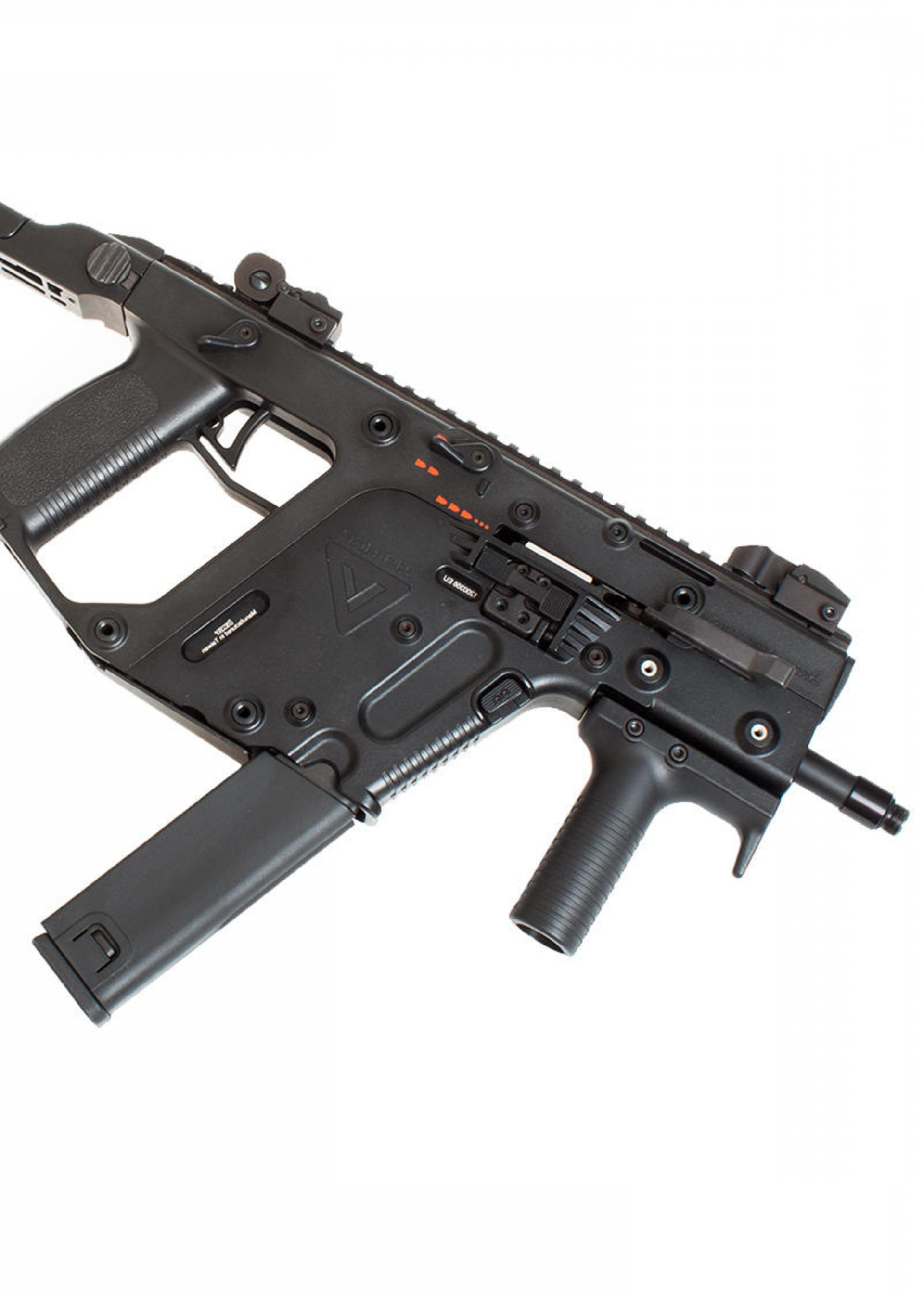 Kriss Vector Extended Barrel: Apple Airsoft Kriss Vector Extended Magazine Rounds Black