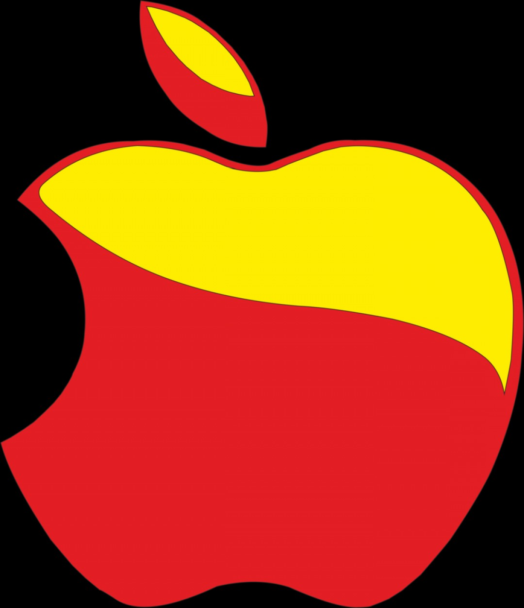 Red Apple Vector Logo: Apple Logo Red And Yellow