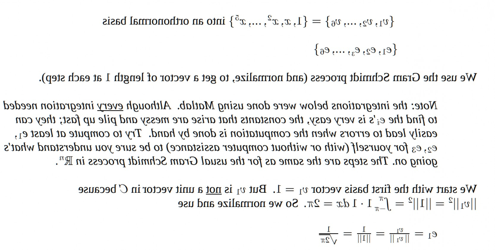 Unit Vectors Orhogonal: Approximating A Function By Orthogonal Projection