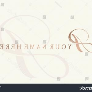 Rose Gold Logo Vector: Abstract Background With Metallic Rose Gold Brush Vector
