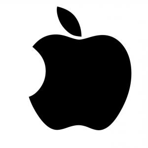 Apple IPhone Logo Vector: Late Gift Silver Apple Logo Vector