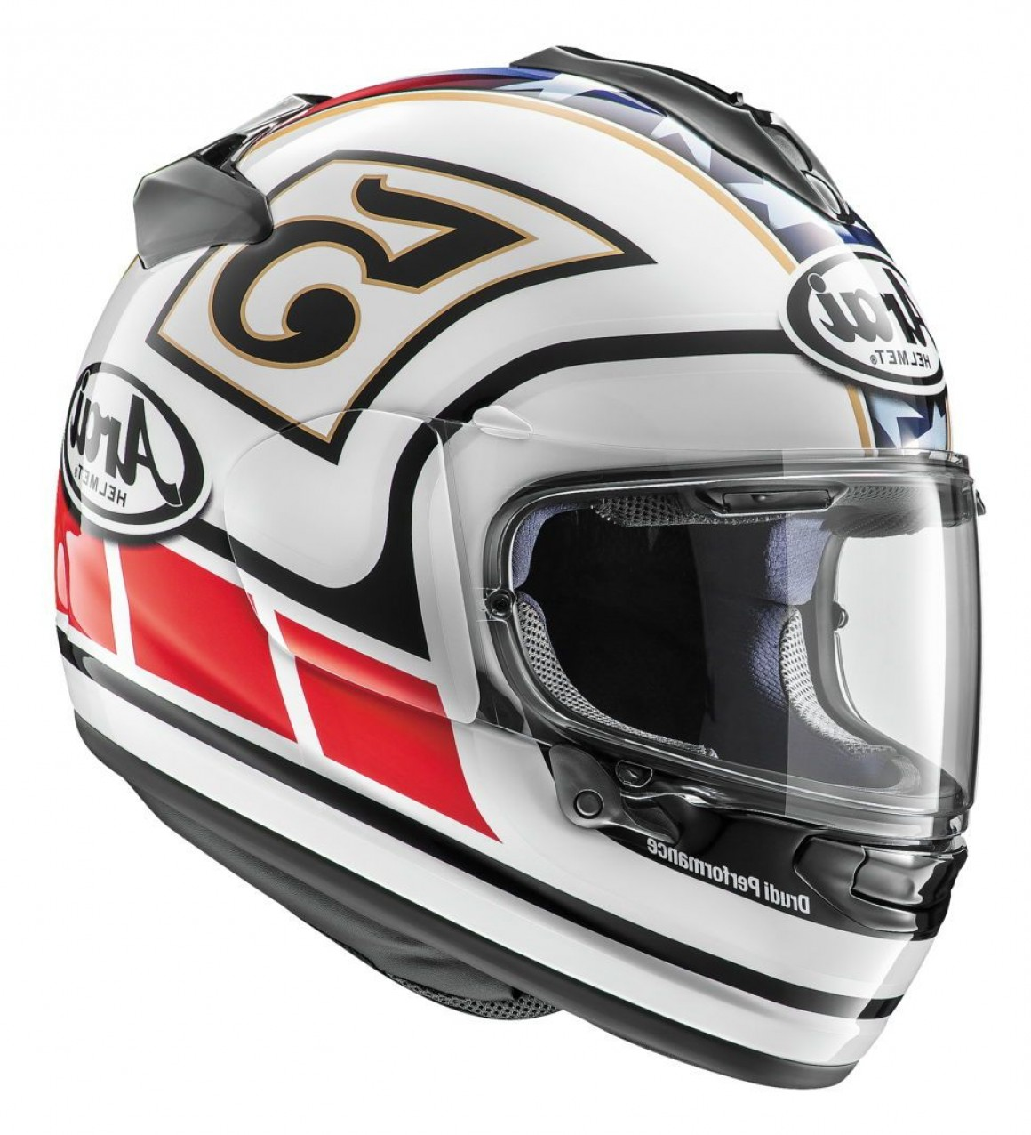 Arai Vector Green White 1: Arai Dt X Edwards Legend Helmet