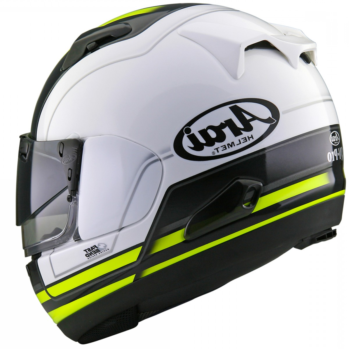 Arai Vector Green White 1: Arai Qv Pro Shade Stint Integral Road White Yellow Black Helmets P
