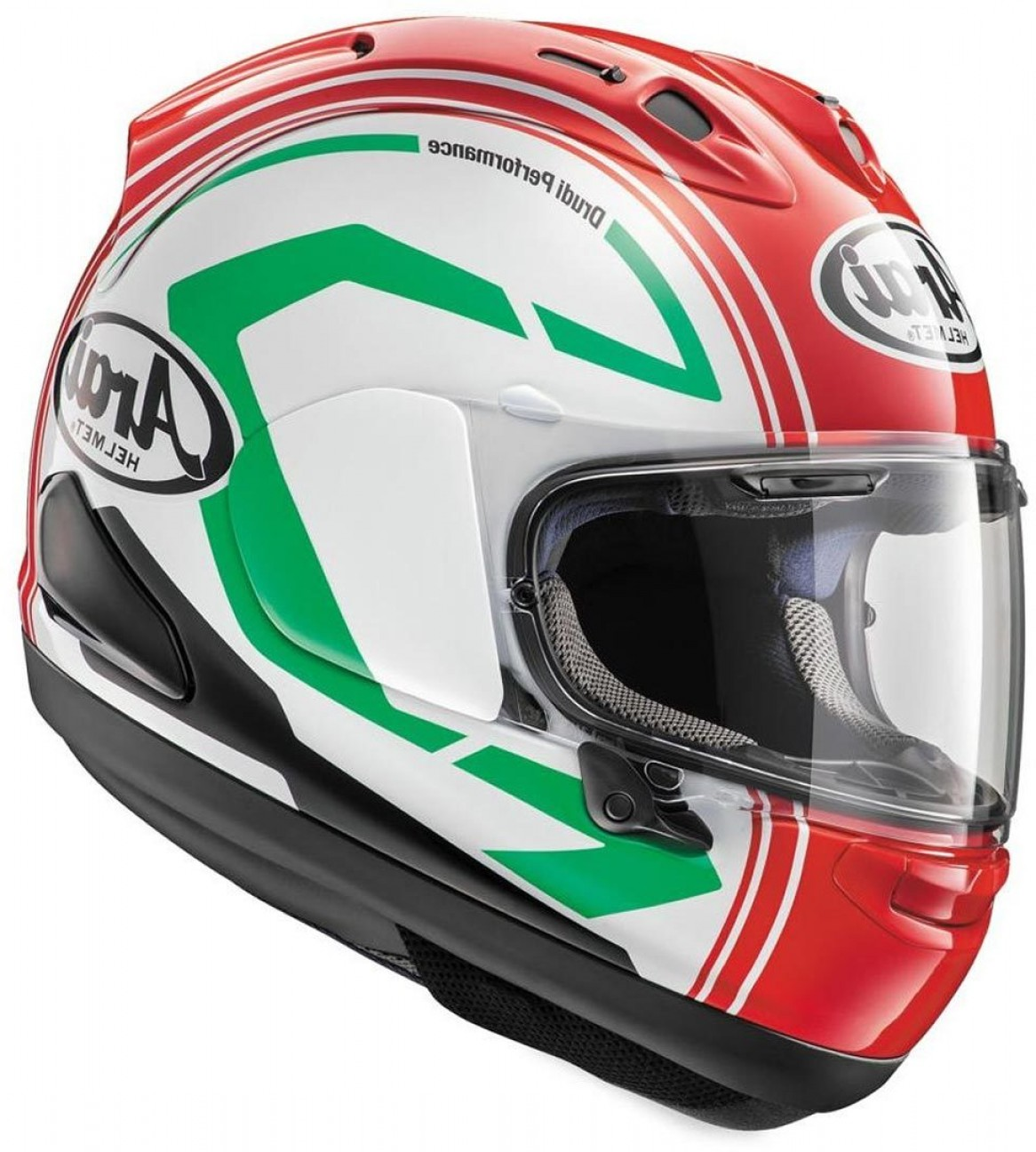Arai Vector Green White 1: Arai Rx V Statement Helmet Red White Green Gp Arai Pinlockcheap P