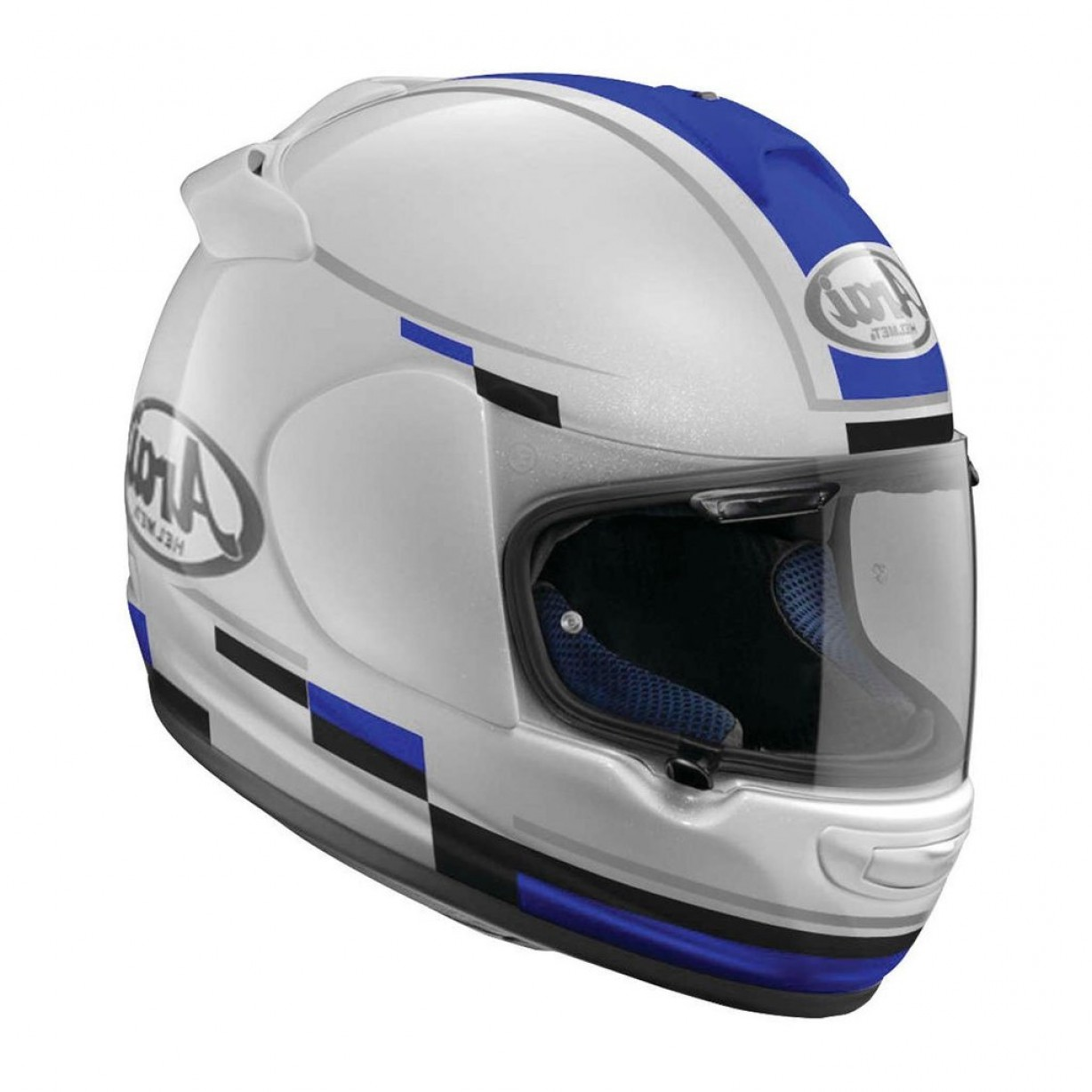 Arai Vector Green White 1: Arai Vector Blaze Full Face Helmet