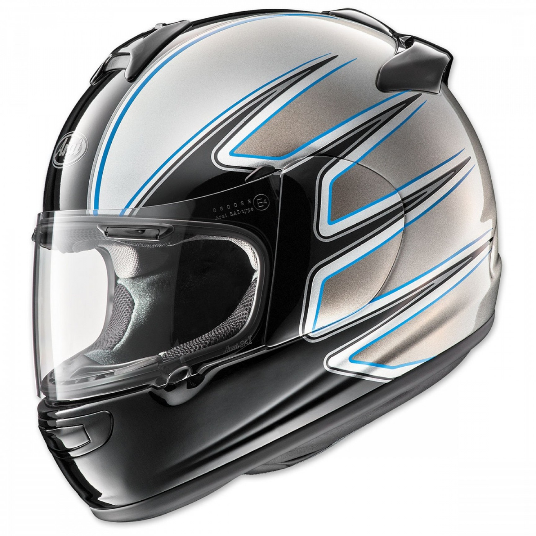 Arai Vector Green White 1: Arai Vector El Camino Silver Full Face Helmet